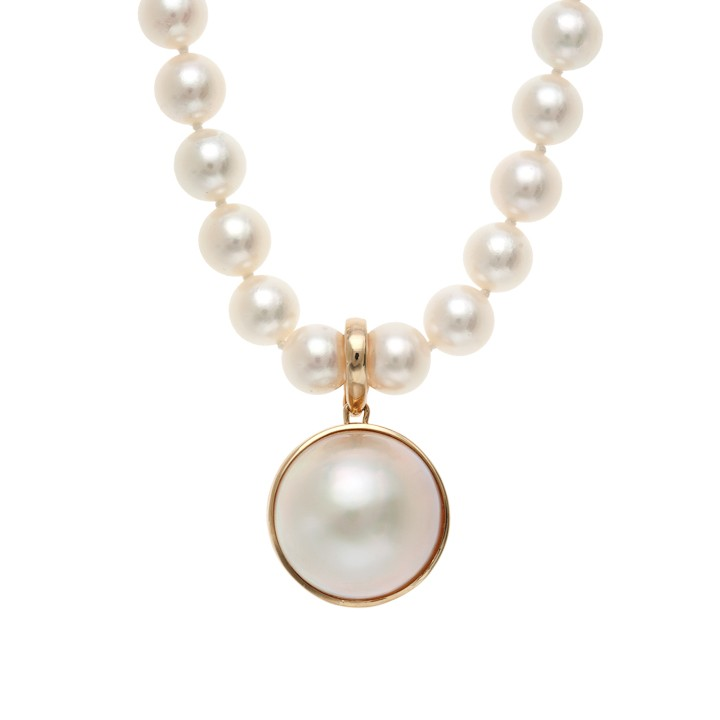 Mabe Pearl Necklace: Mabe Pearl Enhancer